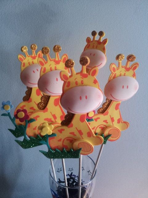 foam giraffes centerpieces party decorations by diapercake4less