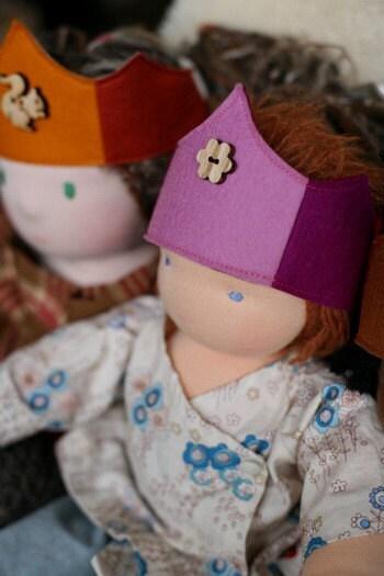 Bamboletta Doll Crown -  Pink Flower