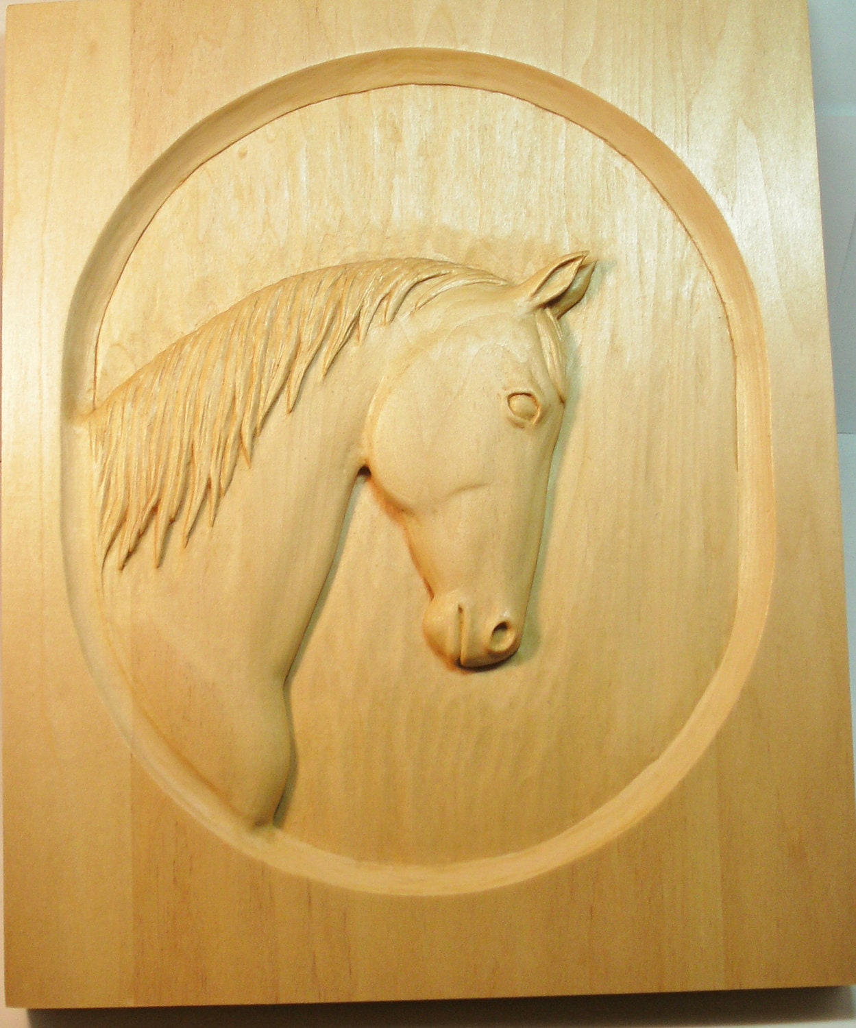 Items similar to horse portrait relief carving on etsy