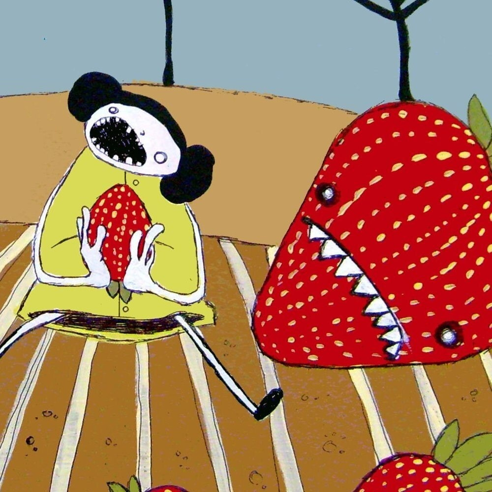 SALE LIMITED TIME - Strawberry Hunter - PRINT