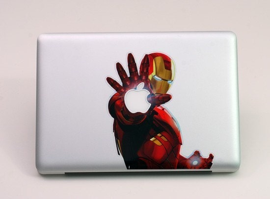 Full-Color Iron Man MacBook Laptop Sticker (sn 21902)---fit 15 inch macbook