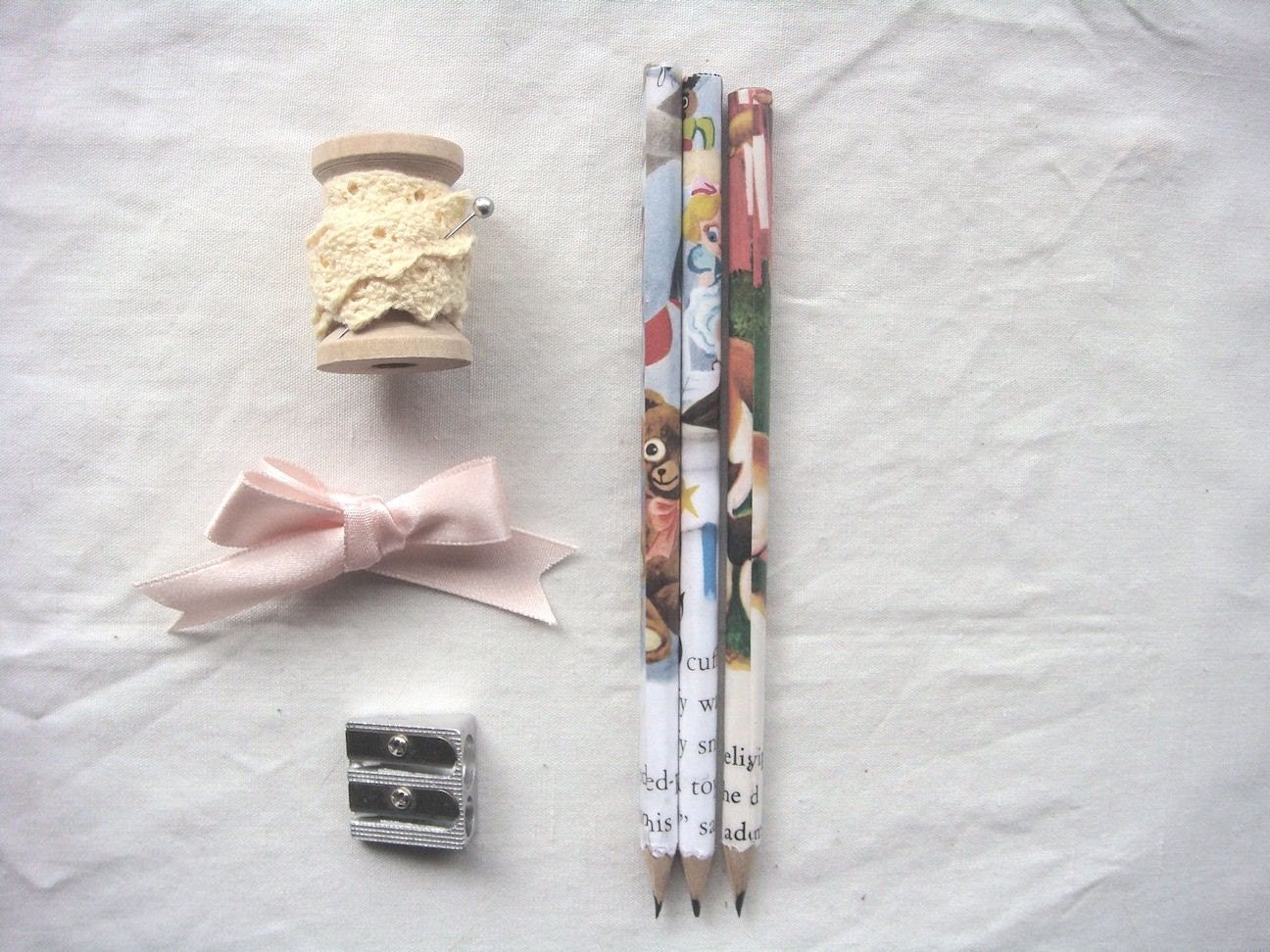 eco friendly recycled newspaper pencils - Story Book by missIsa on etsy