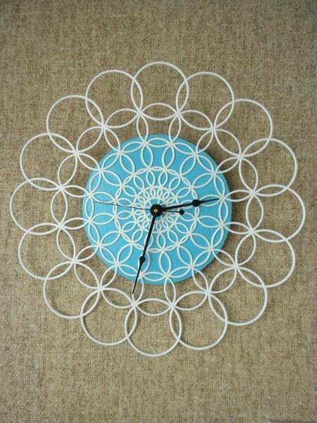 large doily clock