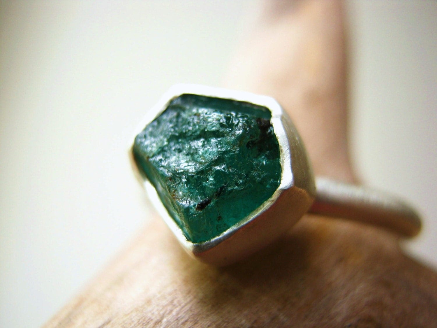 Items Similar To Rough Raw Emerald Ring  Engagement. May Birthstone Wedding Rings. Raspberry Engagement Rings. Western Rings. Santa Maria Wedding Rings. Indigo Rings. 20 000 Dollar Wedding Rings. Circular Wedding Rings. Sandblasted Wedding Rings