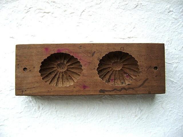 Vintage Japanese Kashigata Sweets Mold Chrysanthemum