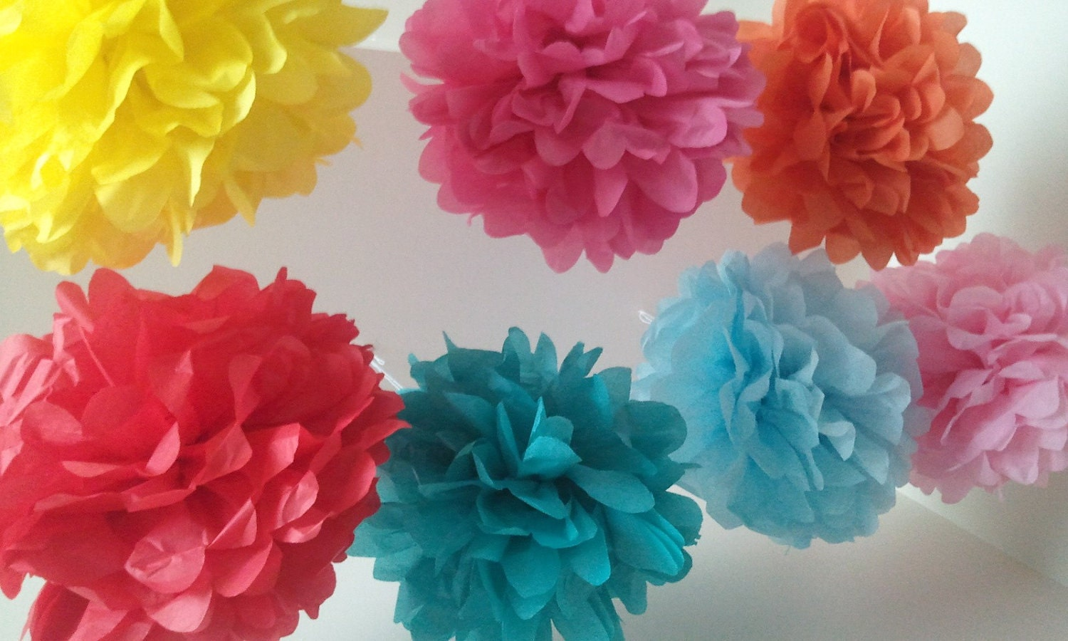 Choose Your Own Colors - Set of 10 Large Poms