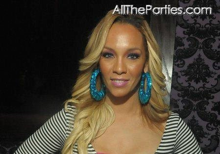Basketball Wives Celebrity Inspired Teal Sequin Bamboo Hoops