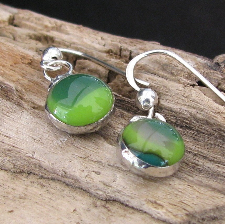 The Changing Colors of Green Fused Glass by AdroitJewelers on Etsy