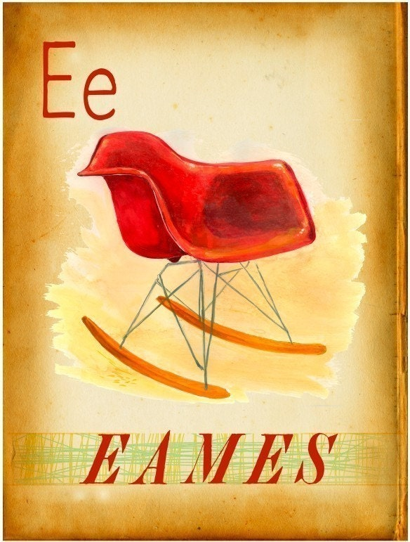Eames RAR  - Modern Design Deck Print