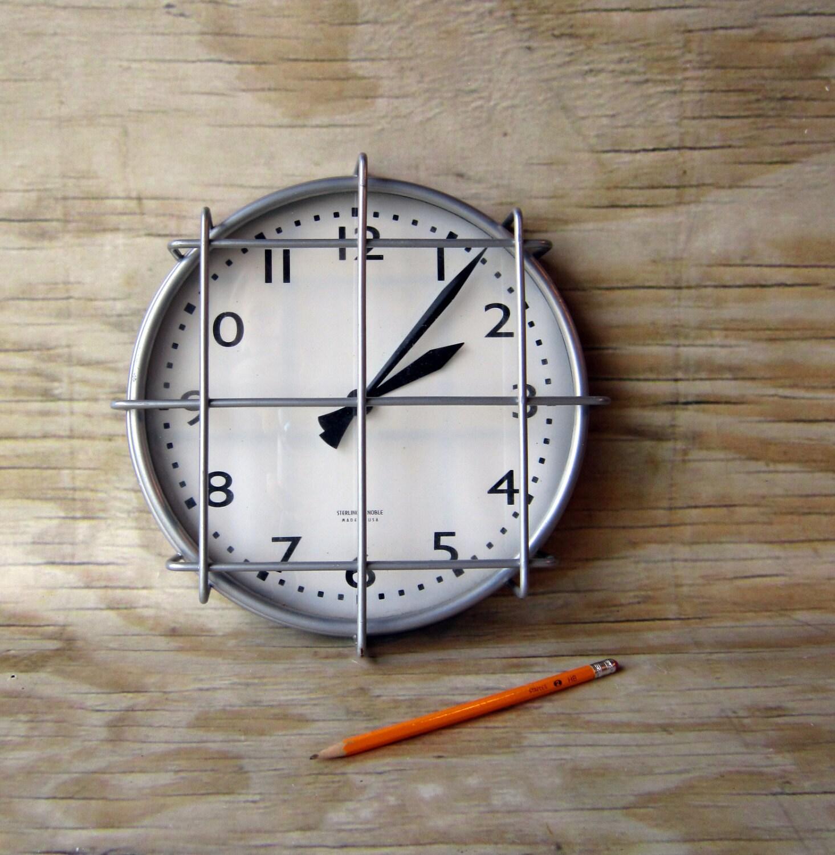 Retro School House Gymnasium Clock by WhatsNewOnTheMantel on Etsy