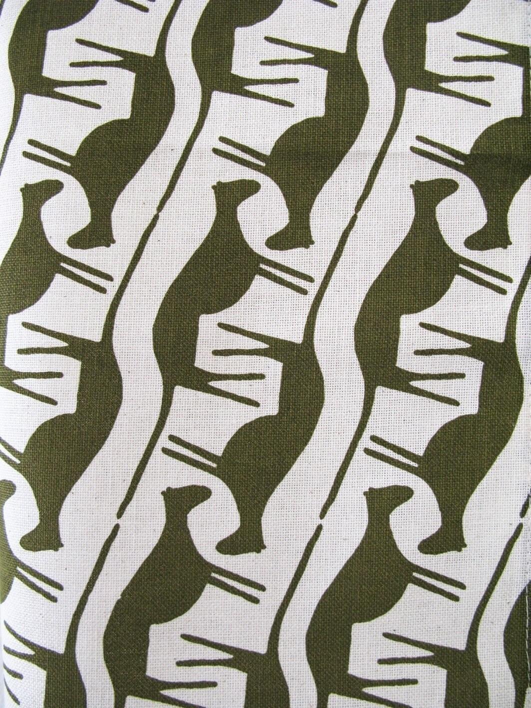 Mongoose in  army - tea towel