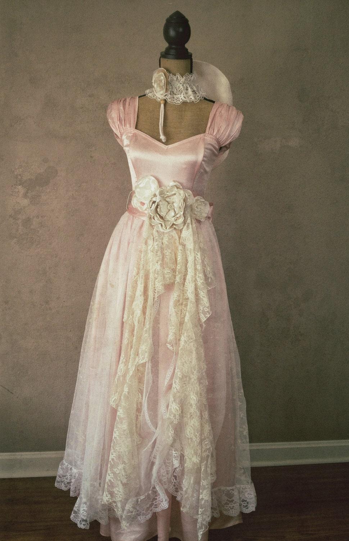 Pink Vintage Gunne Sax Dress Rustic Wedding By DenaDanielleDesigns