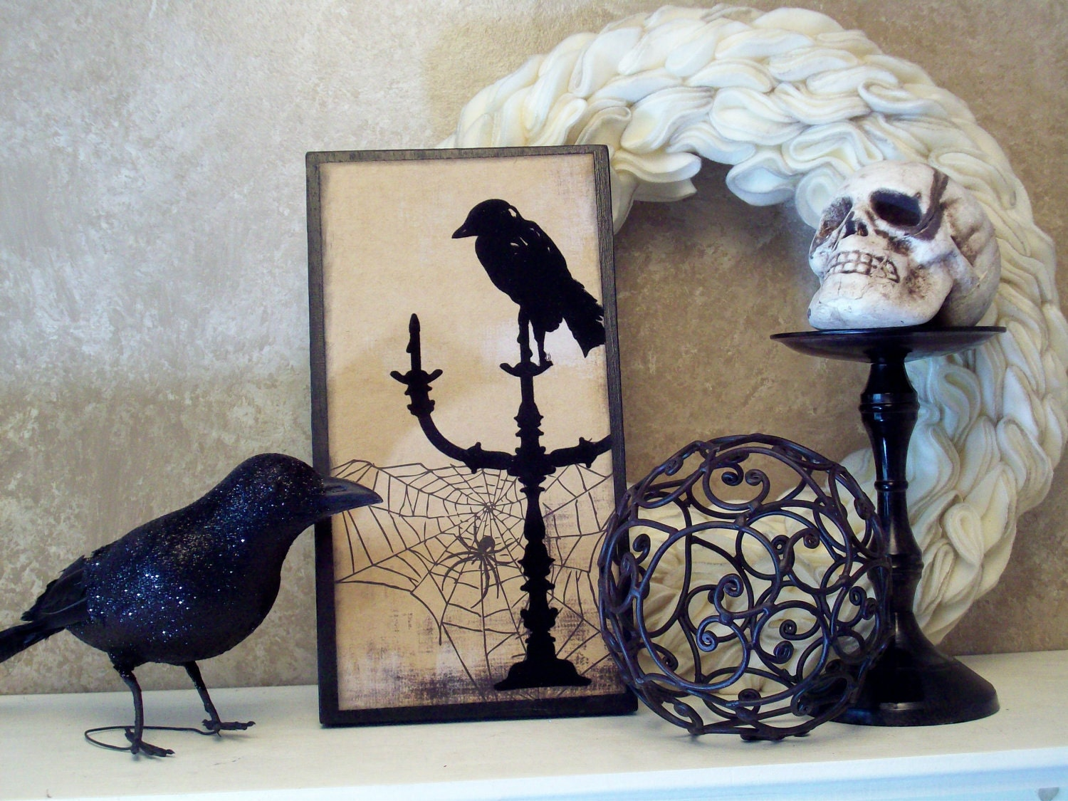 The Raven decorative wood board