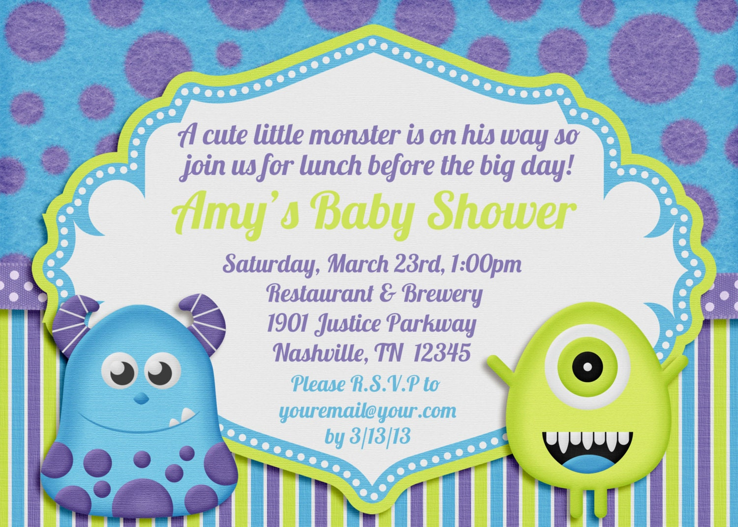Monster Baby Shower Invitations for your inspiration to make invitation template look beautiful