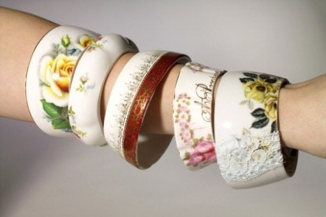 The Original Maker Of Teacup Bracelets By StayGoldMaryRose - Charming Vintage Bonechina Teacup Bracelets