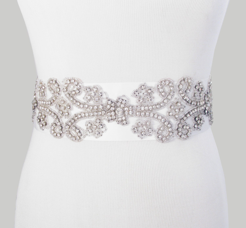 Items similar to Wedding Dress Sash Crystal Rhinestone