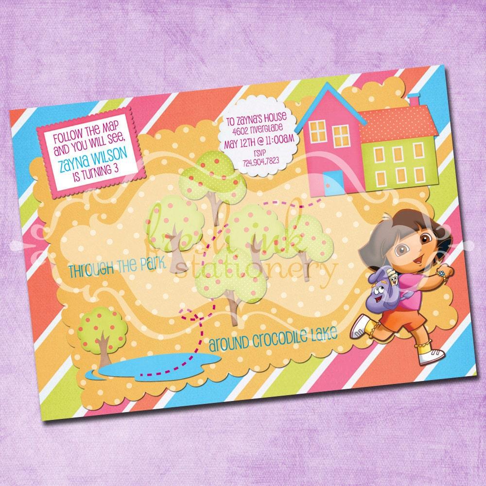 Dora The Explorer Invitations as good invitations sample