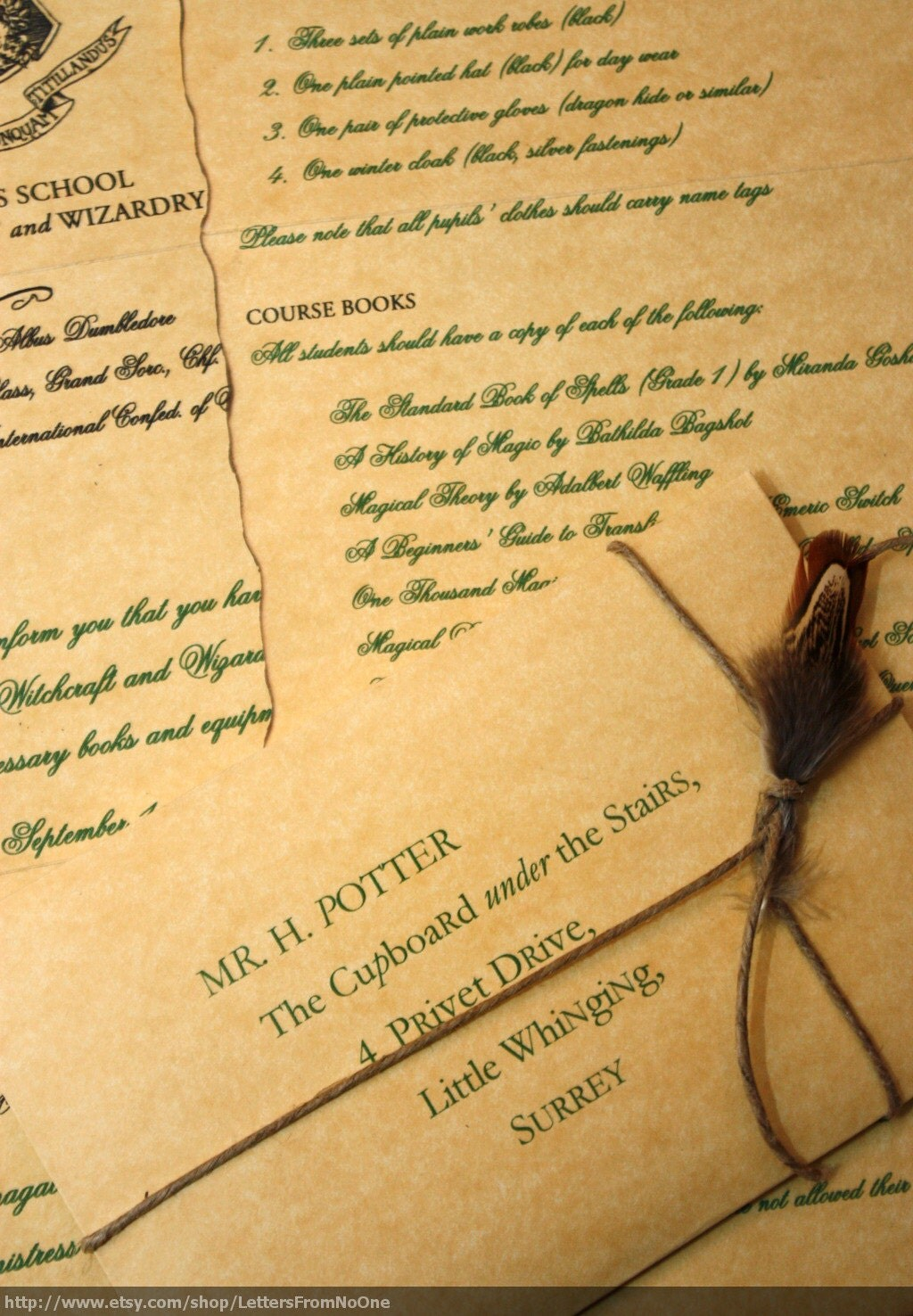 Etsy your place to buy and sell all things handmade for Harry potter personalized letter