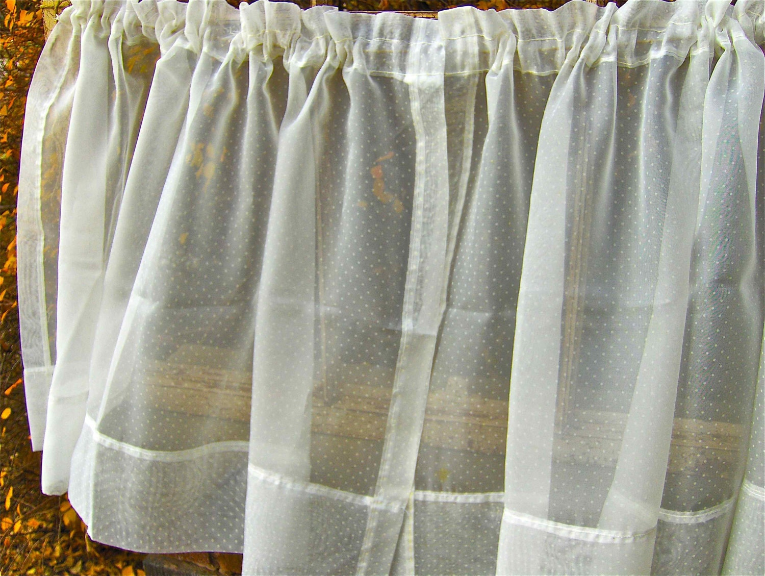 Outdoor Waterproof Curtains Patio White Patterned Sheer Curtains