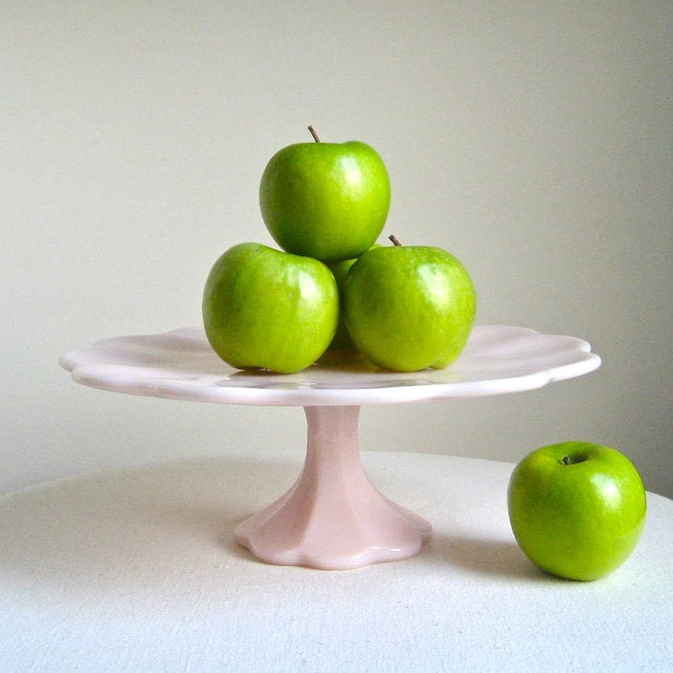 Flaring Top Glass Cake Stand