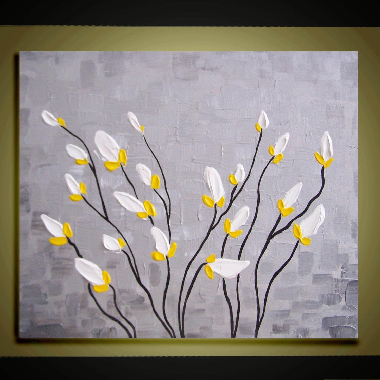 White flower oil lookup beforebuying modern oil paintings white flowers mightylinksfo