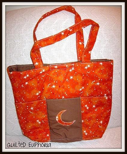Half Moon Applique Tote Bag