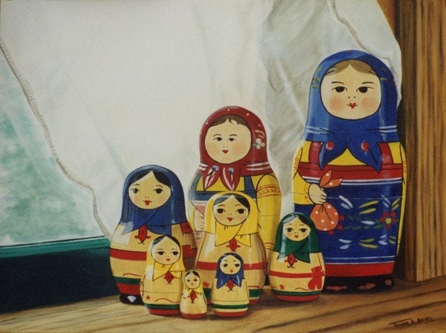 Eight Little Matryoshkas - Fine Art Print