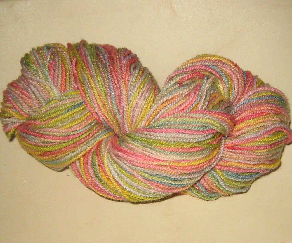 Knitting Yarn, Hand Dyed, 3oz.,  240 yds, DK 'Spring' fine wool, 2 ply, DK