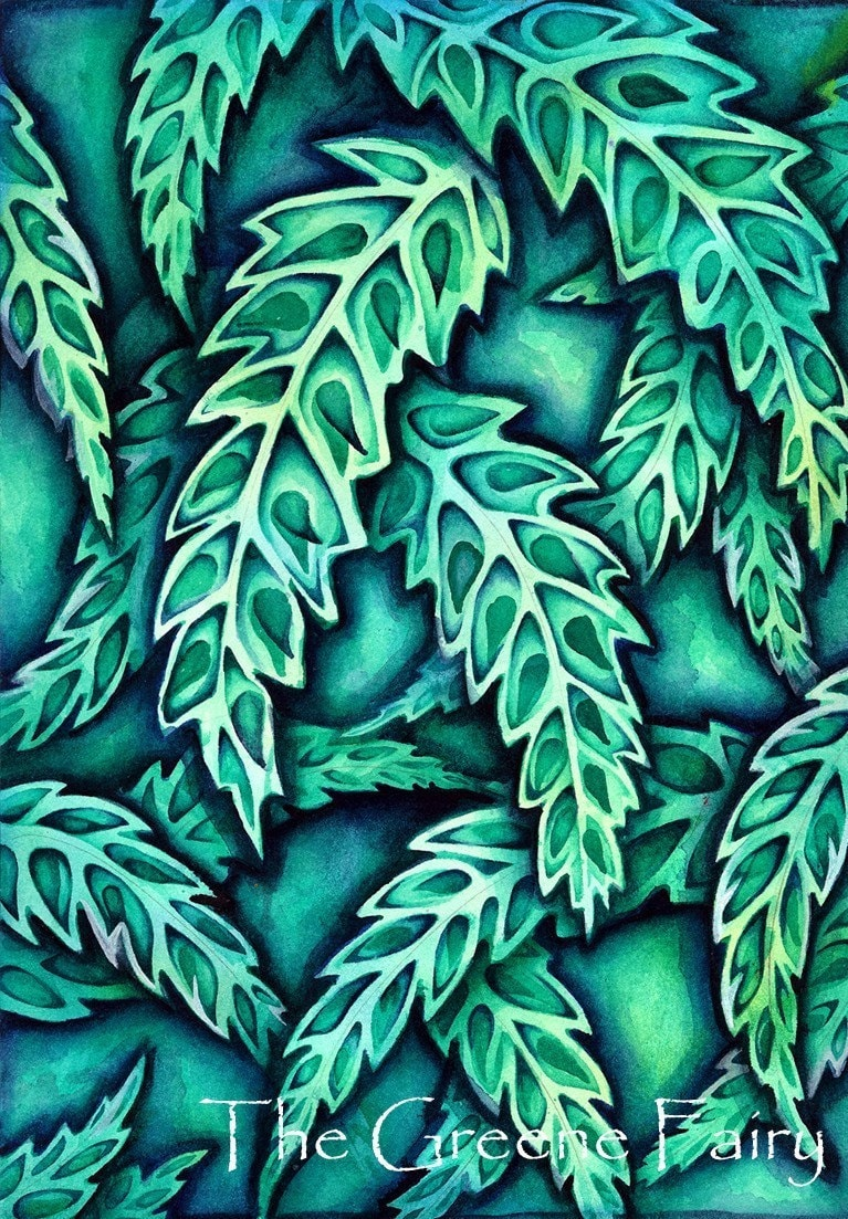 Green  Leaves...HALF PRICE...Christmas in July SALE...