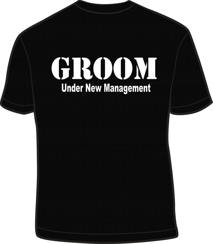 Funny Wedding Gift For The Groom : Under New Managment Groom T Shirt Husband Funny Wedding Gag Gift
