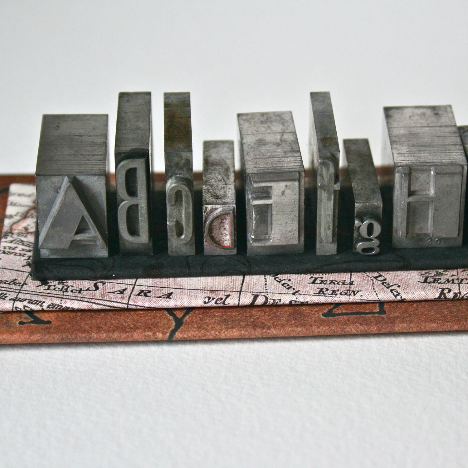 Metal Printer's Type - Alphabet 8 with Pedestal