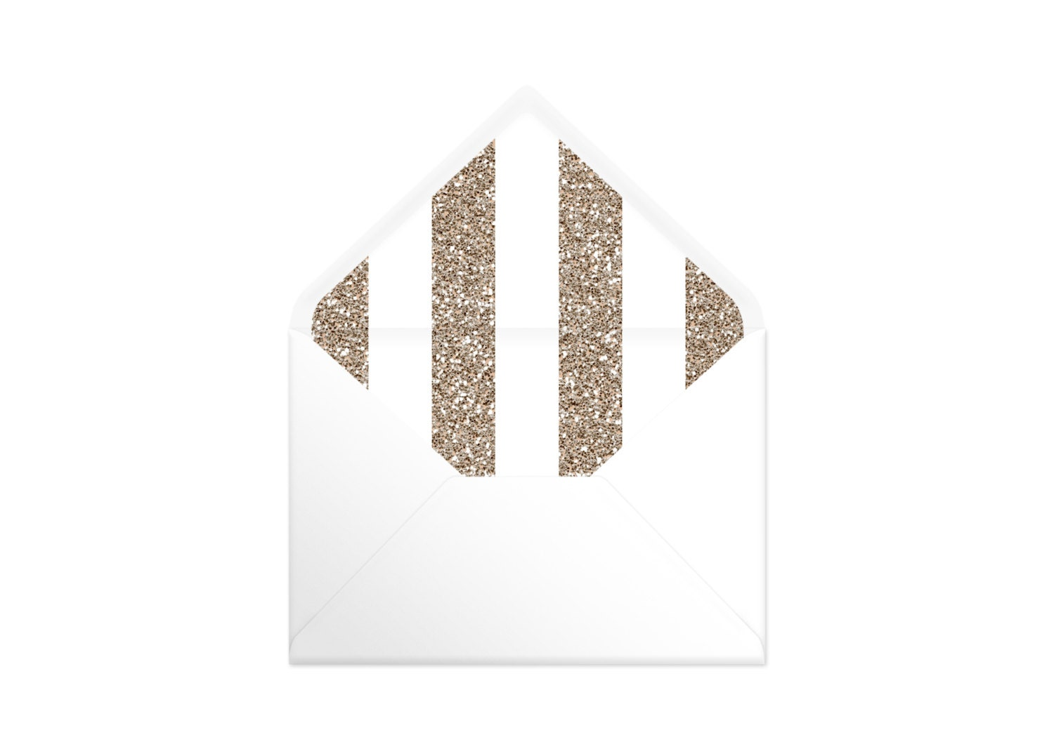 Printable Envelope Liner  Gold Glitter Effect Stripe. 9 Sizes. Envelope Template DIY Wedding Printable Invitation