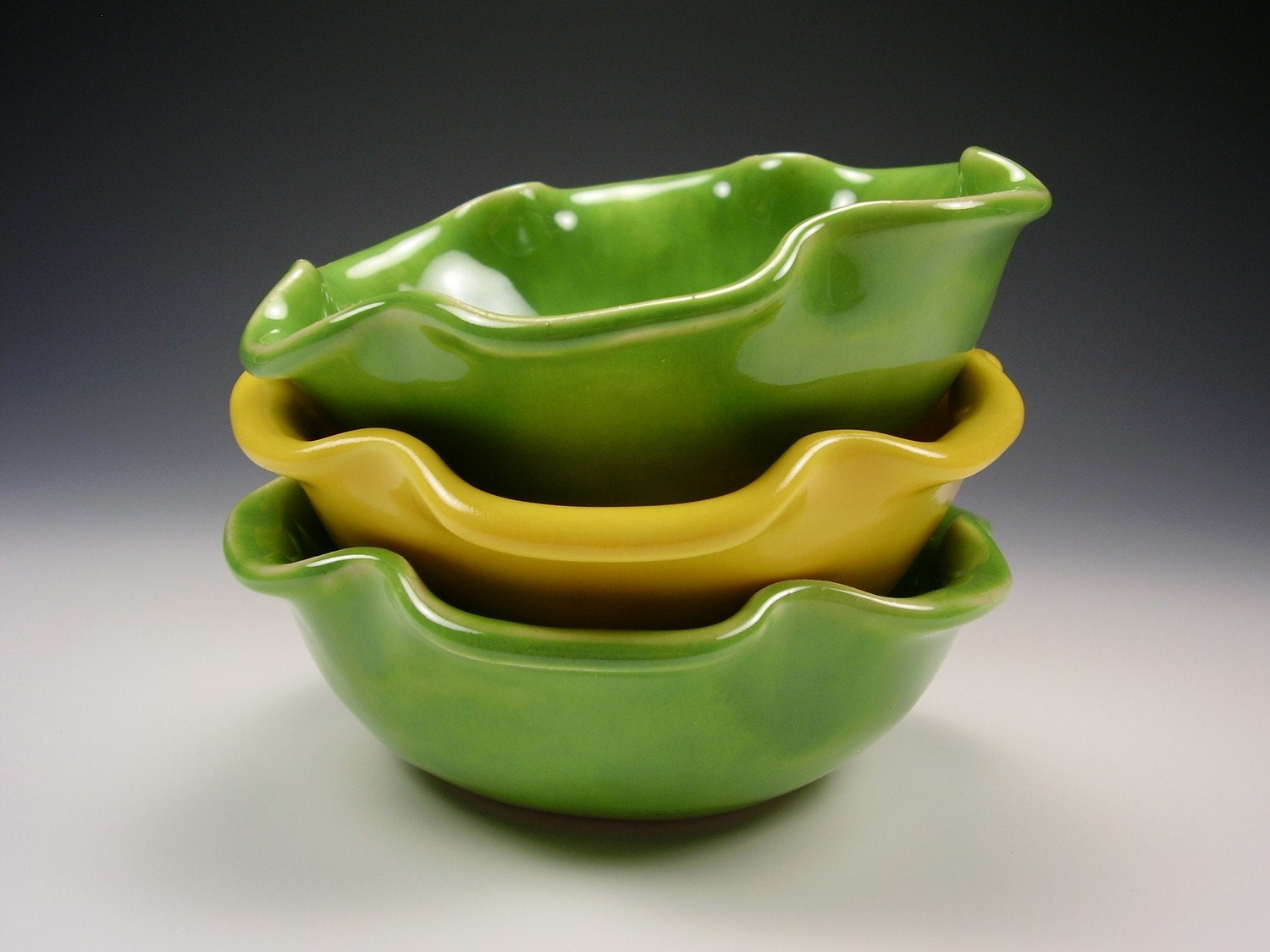 Japan Earthquake Tsunami Relief...Oak Leaf Ruffle Bowl...Ready To Ship