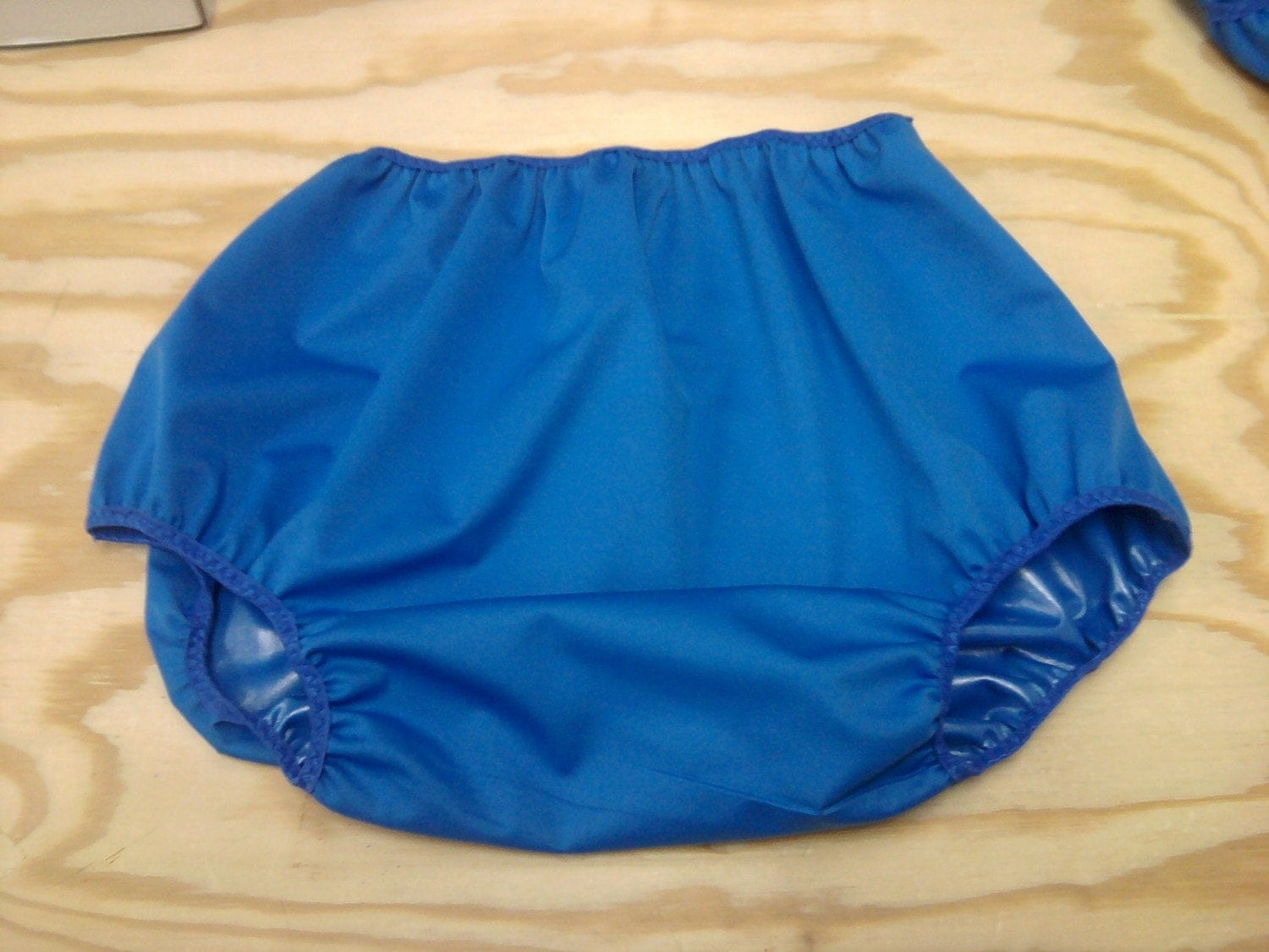 Adult Diaper Cover - Blue - Size 44 to 52 inches. From nevergrownup