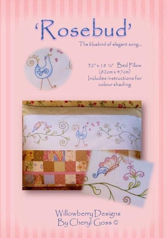 Rosebud Bed Pillow pattern
