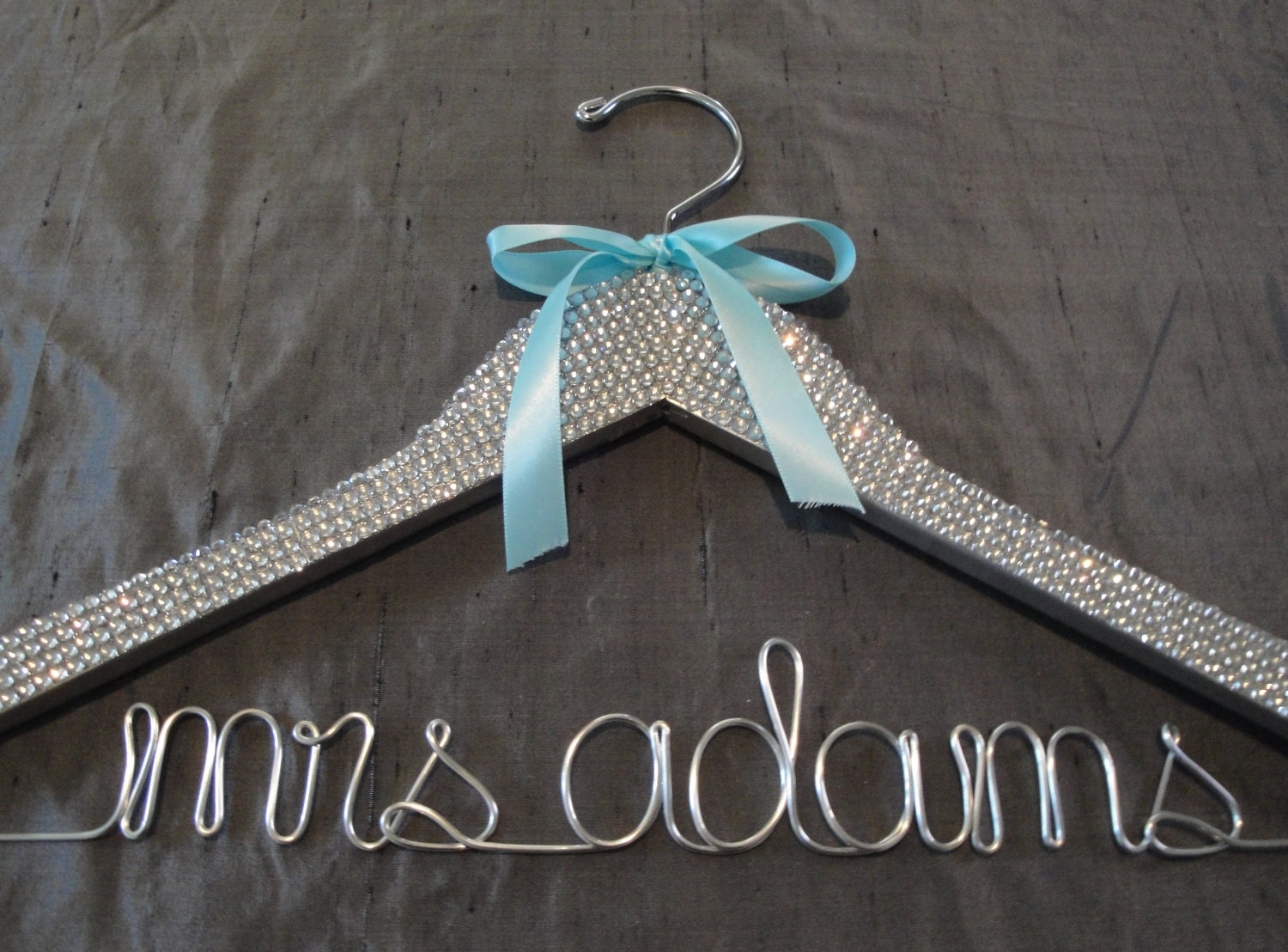 Girl's Best Friend -the ULTIMATE Personalized Bridal Hanger - SILVER wire