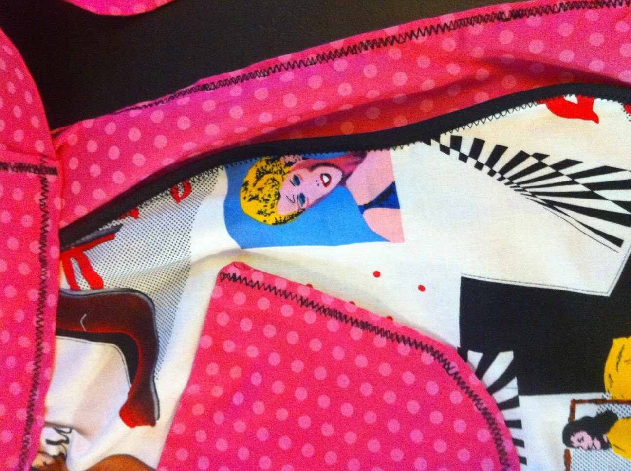 Fashionista half apron for the fashion minded domestic goddess polka dot pin-up
