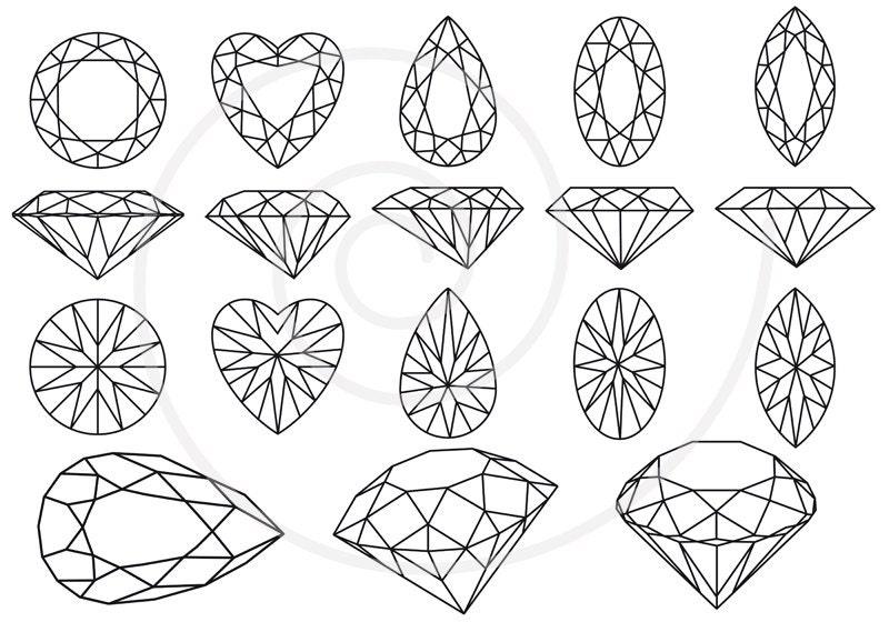 Diamonds and gem stones jewels jewelry digital clip by ...