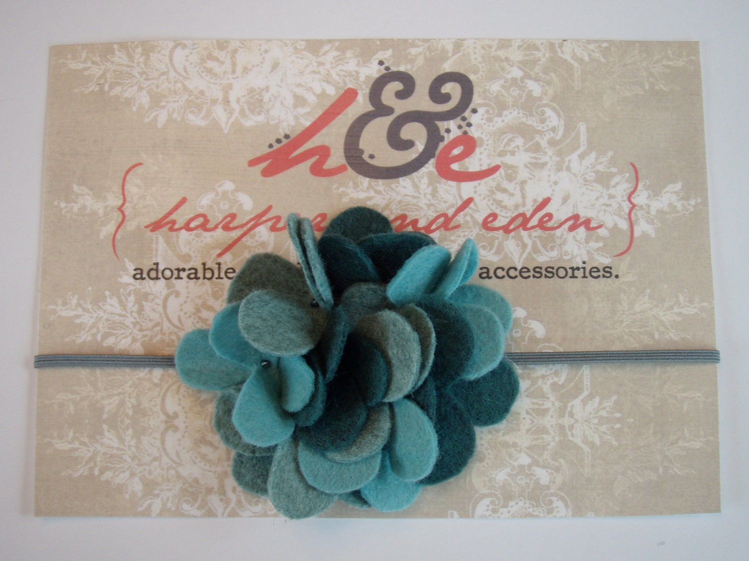 FREE Shipping - Hydrangea infant headband in Newborn to Adult sizes / Lots of Colors