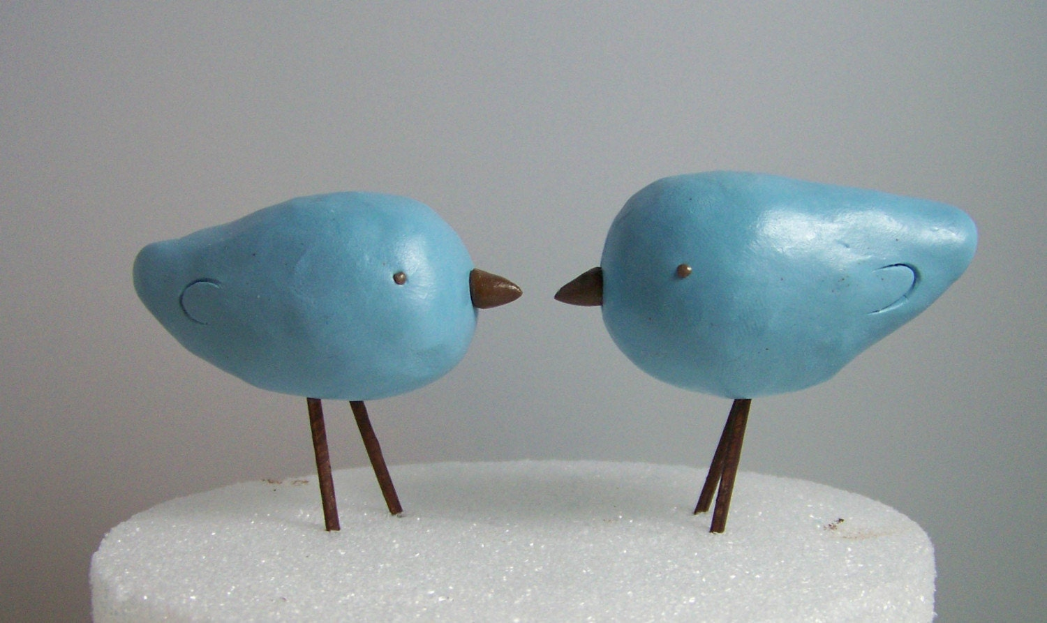 Custom Made Love Birds Cake Topper Colors of Choice