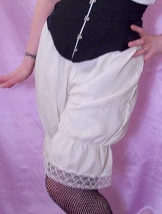 cream cotton bloomers