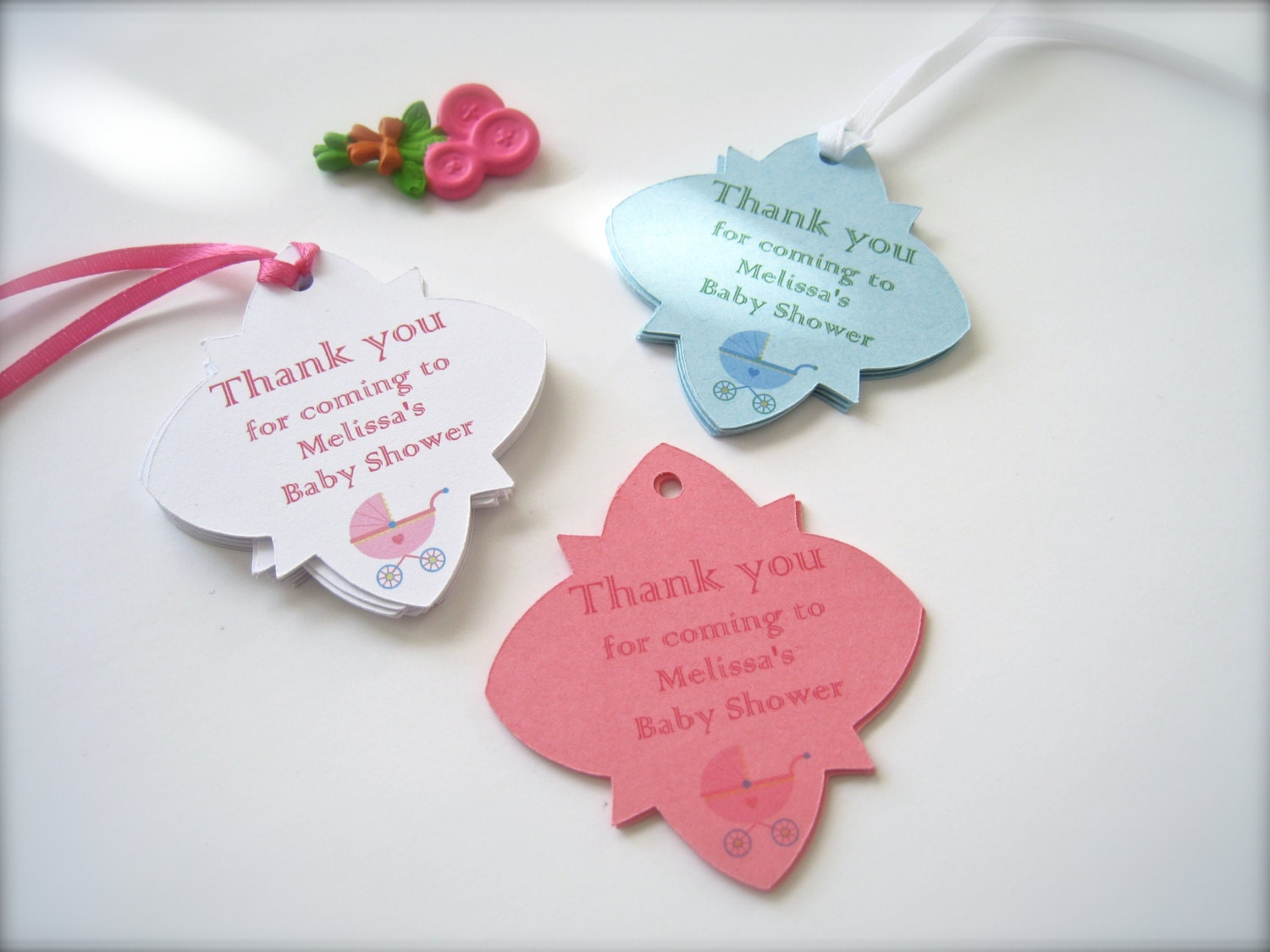 Baby shower favor tags, custom shower tags, party favor tags - 25 tags - PaperLovePrints