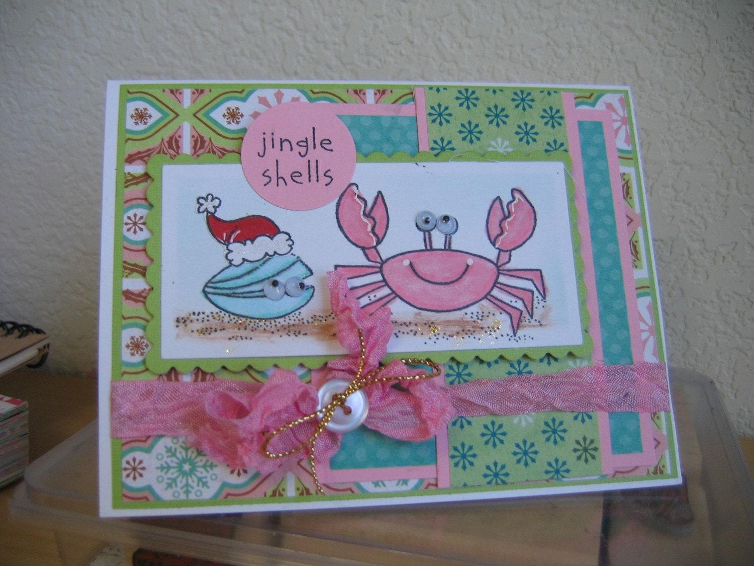STAMPIN UP TROPICAL CHRISTMAS FUN HANDMAD CARDS
