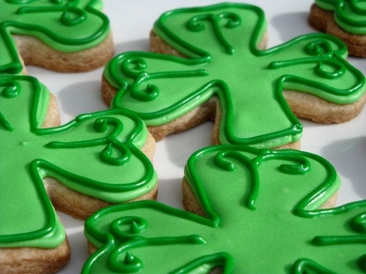 St Patricks Day Clover cookies 1 dozen