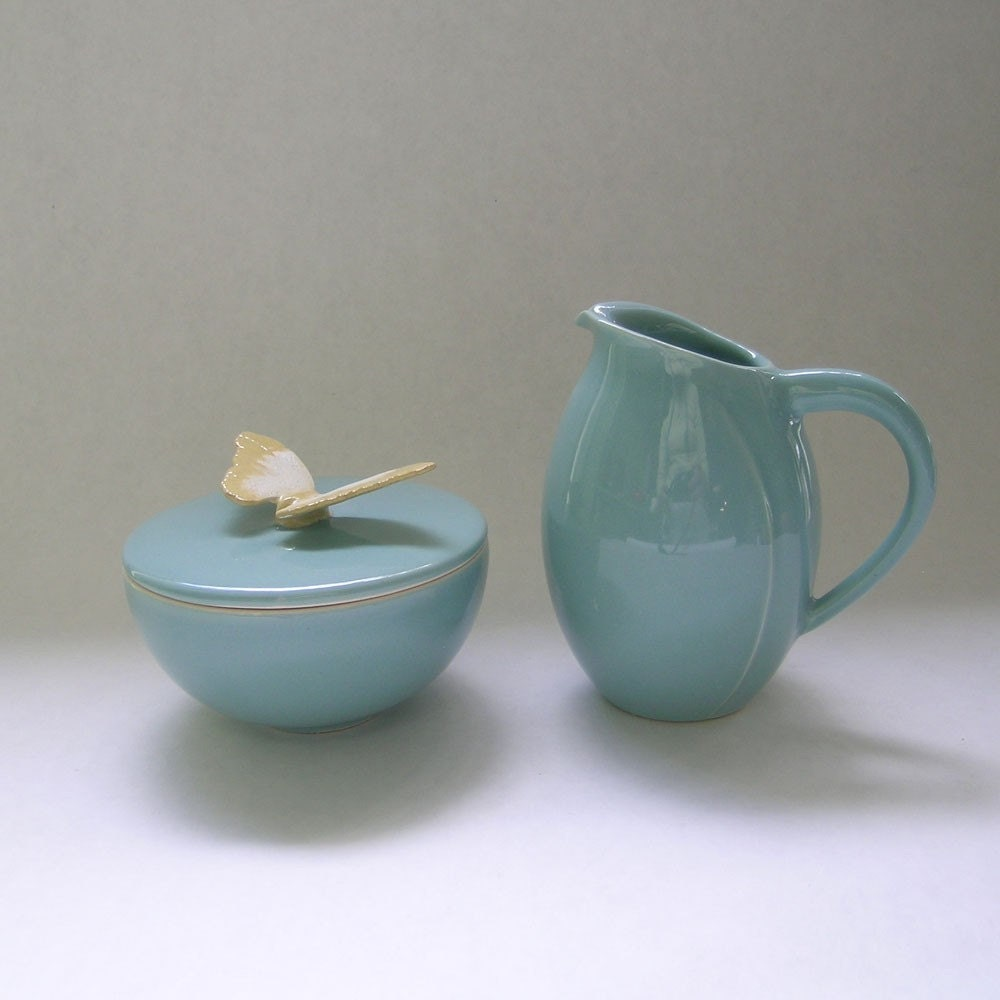 Butterfly Sugar and Creamer Set