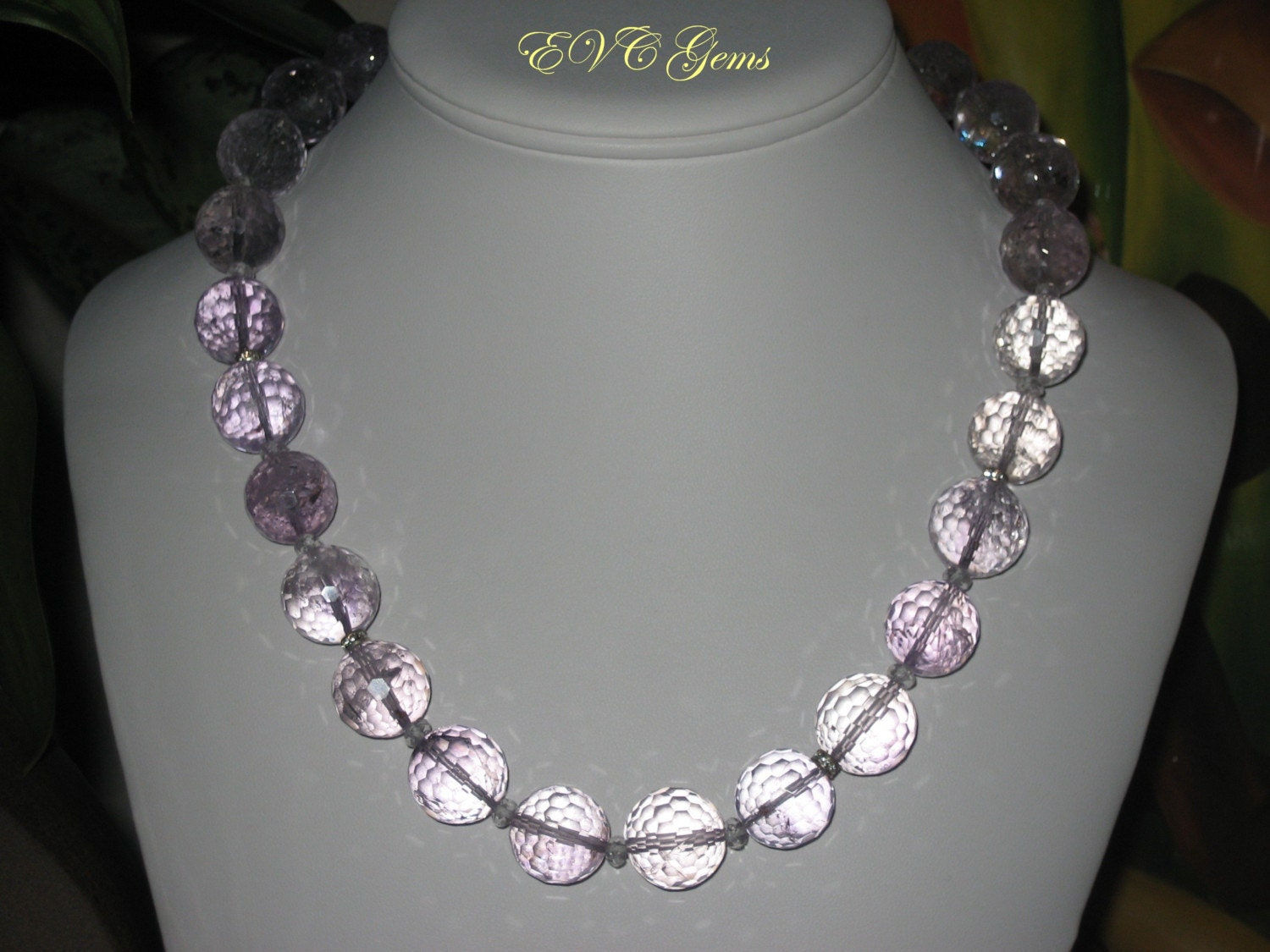Etsy :: evcgems :: SALE Light Amethyst Bauble Necklace by EVC Gems from etsy.com