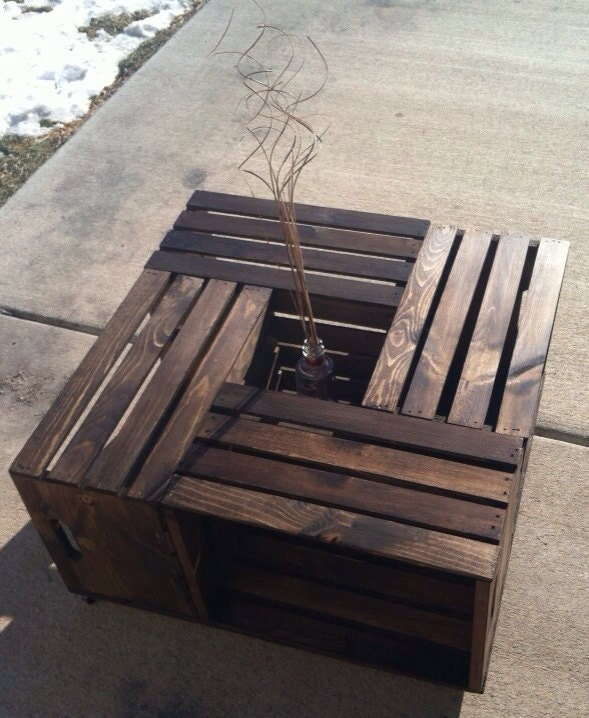 Apple Crate Coffee Table By Carriesrusticrubbish On Etsy