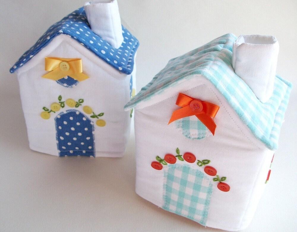 Plush Fabric House - Aqua Gingham