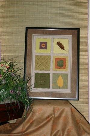 Green Art - Paper Quilt - Paper Collage - Mix Media art - Original Art Work