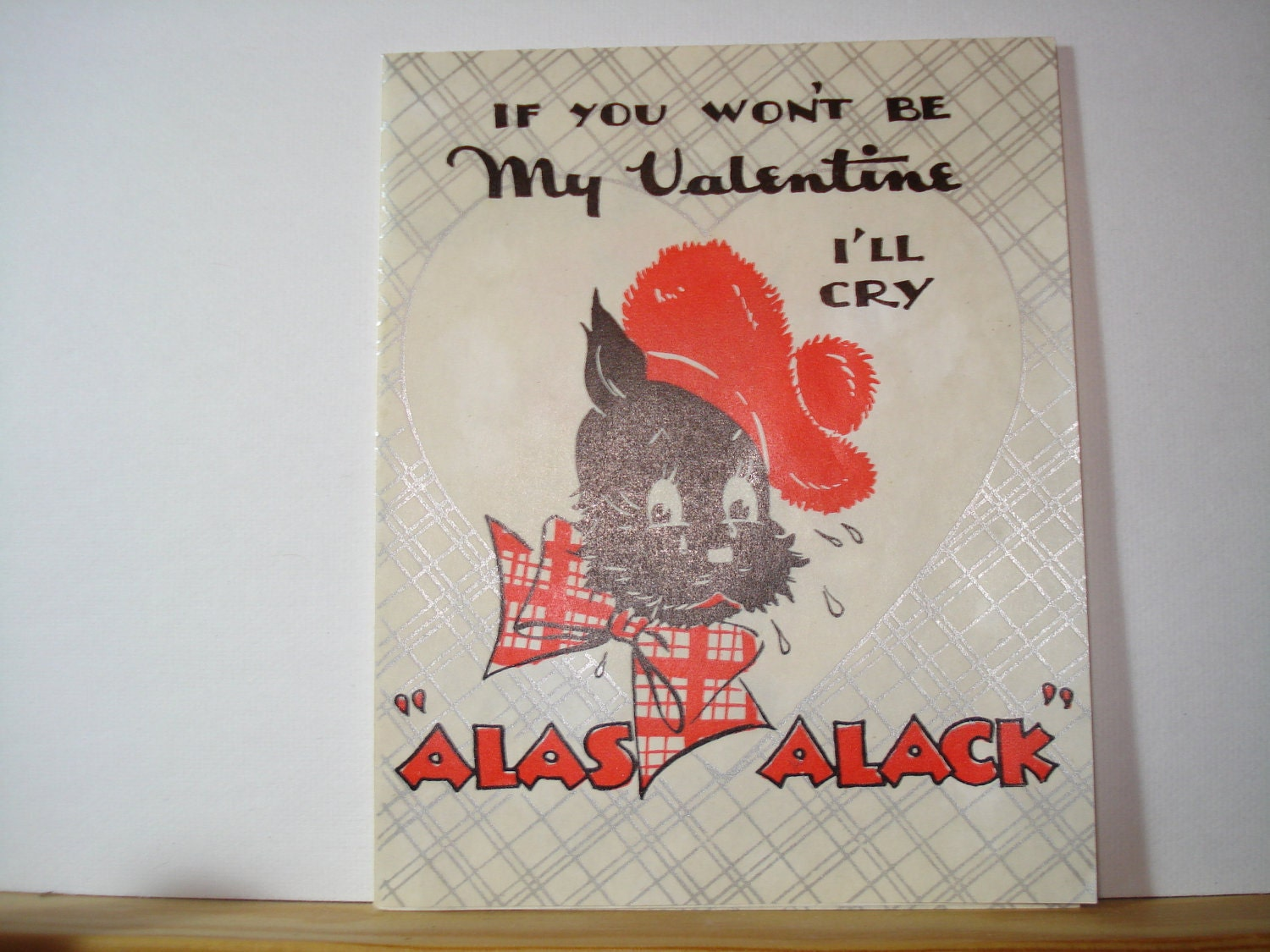 Vintage Valentine 1940's Scotty Dog Scottie Dog Sweet